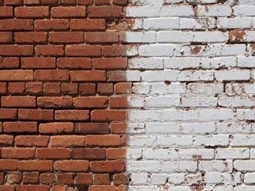очистка песком стен зданий